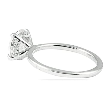 Round solitaire engagement ring 2 carat diamond