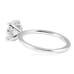 pave diamond basket with plain band engagement ring