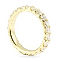 1.75 CT ROUND PAVE DIAMOND YELLOW GOLD ETERNITY BAND