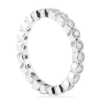 1.10 CT ROUND DIAMOND BEZEL SET ETERNITY BAND
