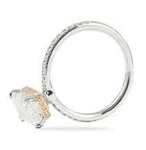 2.50 Carat Emerald Cut Two-Tone Signature Wrap Engagement Ring