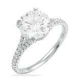 2.25 ct Round Diamond Split Band Engagement Ring
