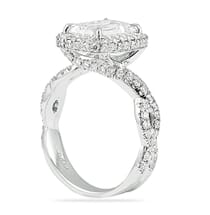2.50 Carat Emerald Cut Diamond Twisted-Band Engagement Ring
