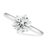 1.52 ct Round Diamond Platinum Six-Prong Engagement Ring