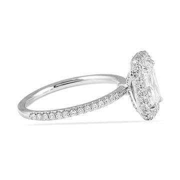 custom engagement ring radiant cut halo design lauren b