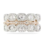 1.00 CT TW WHITE AND ROSE GOLD SET OF WEDDING BANDS
