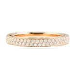 .90 CT ROSE GOLD TWO-ROW ETERNITY BAND