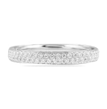 TWO ROW PAVE ETERNITY BAND WHITE GOLD