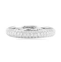 .70 CT DIAMOND THREE-ROW PAVE ETERNITY BAND