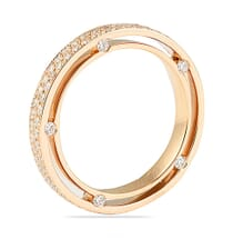 TWO ROW PAVE ETERNITY BAND ROSE GOLD