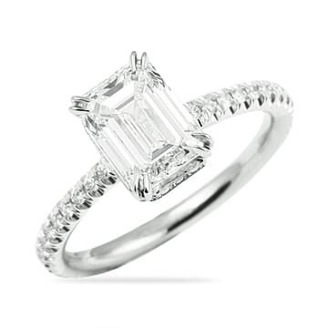 EMERALD CUT DIAMOND CUSTOM ENGAGEMENT RING