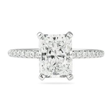 CUSTOM RADIANT CUT ENGAGEMENT RING MICROPAVE
