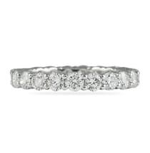 shared prong eternity band 2 carats of diamonds