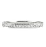 .65 CT DIAMOND 3-ROW BRIGHT CUT WEDDING BAND