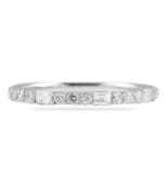 .45 CT BAGUETTE AND ROUND DIAMOND WEDDING BAND