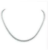 10.62 CT TW DIAMOND TENNIS NECKLACE