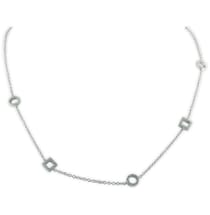 NECKLACE WITH PAVE DIAMOND CIRCLES AND SQUARES