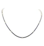 SAPPHIRE AND DIAMOND 18K GOLD NECKLACE