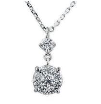 diamond cluster pendant lauren b