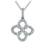 Diamond 18K White Gold Pendant Necklace