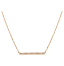 ROSE GOLD DIAMOND BAR PENDANT NECKLACE