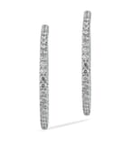 1.20 CT DIAMOND 18K WHITE GOLD HOOP EARRINGS