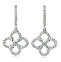 flower pave earrings diamonds new york