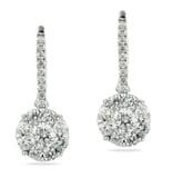 DIAMOND 18K WHITE GOLD DROP EARRINGS