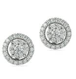 DIAMOND 18K WHITE GOLD ADJUSTABLE EARRINGS