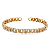 BANGLE BRACELET IN ROSE GOLD WITH PAVE DIAMONDS