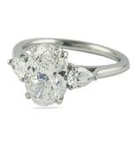 2.03 ct Oval Diamond Three-Stone Engagement Ring