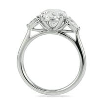 oval diamond 2 carats with pear shape side diamonds