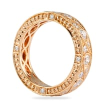 vintage style wide rose gold eternity band