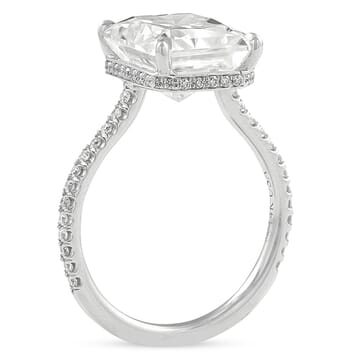 Radiant Cut Moissanite Invisible Gallery™ Engagement Ring