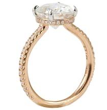 rose gold moissanite oval engagement ring