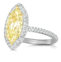 MARQUISE YELLOW DIAMOND ENGAGEMENT RING