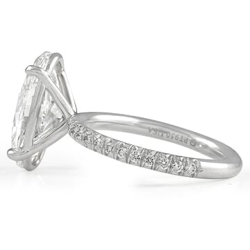 4.51 carat Oval Diamond Engagement Ring white gold front view