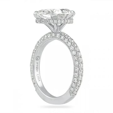 3 carat pear shape diamond ring