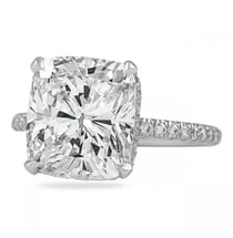 5.21 Carat Cushion Cut Diamond Signature Wrap Engagement Ring