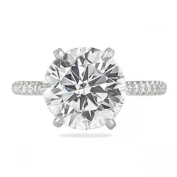 4 carat round diamond engagement ring