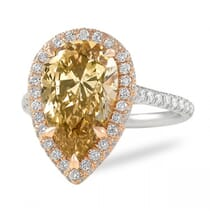 fancy brown yellow diamond engagement ring