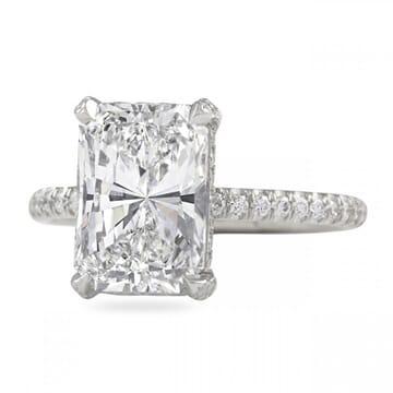 3.00 Carat Radiant Cut Diamond Pave Basket Engagement Ring