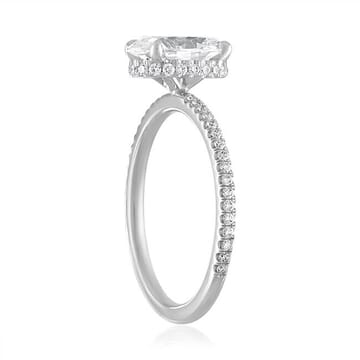 1.50 Carat Oval Diamond Super Slim Band Engagement Ring