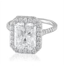 CUSTOM ENGAGEMENT RING WITH RADIANT CUT MOISSANITE