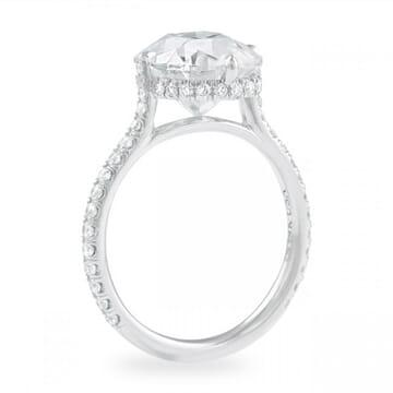 Antique Cushion Moissanite Engagement Ring
