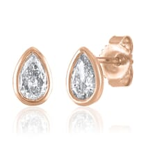 Encased Pear Diamond Earrings