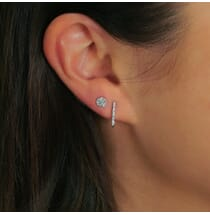Geo Diamond Hoop Earrings
