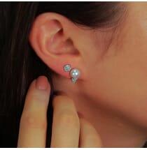 Pearl Rockstud Earrings