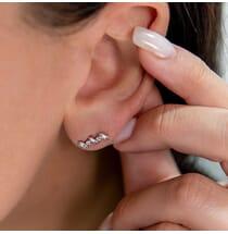 Mixed Shape Stud Earrings