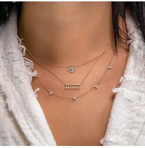 Trio Station Necklace
